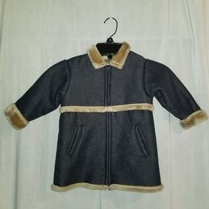 Baby Gap Fur Lined coat Denim